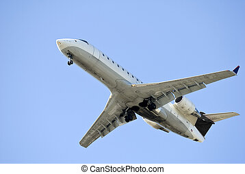 Airliner on Final Landing Approach