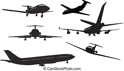 Airliner silhouettes
