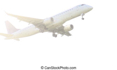 Airliner taking off - View from the ground on a passenger...