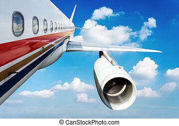 airliner, vôo