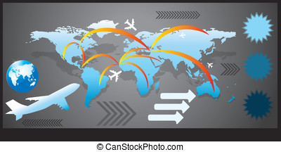 airliner vector map