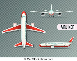 Airliner Views Realistic Set - Wide body large civil jet ...