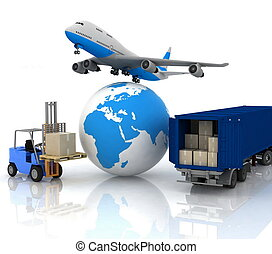 airliner with a globe and autoload