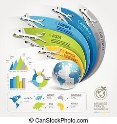 Airlines travel infographics. Vector illustration. Can be...