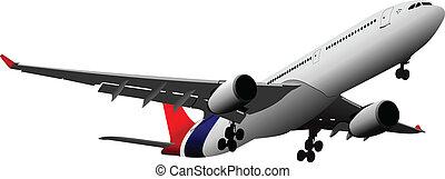 airlines., vektor, abbildung