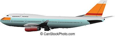 airlines., vetorial, ilustração