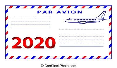 Airmail envelope 2020