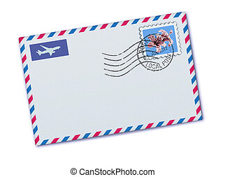 Airmail envelope - illustration of blank airmail envelope...