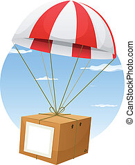 Airmail Shipping Delivery - Illustration of a cartoon...