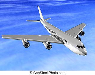 Airplane - 3d render
