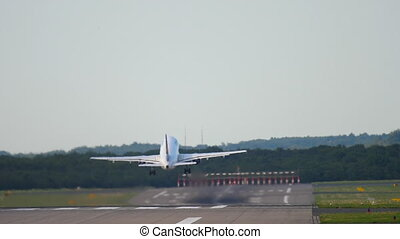 Airplane accelerate and take-off - Airplane accelerate and...