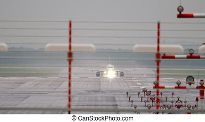 Airplane accelerate before take-off - Airplane accelerate...