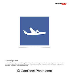 Airplane accident icon  - Blue photo Frame