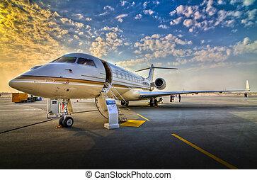 Airplane Airshow - Sunset airplane