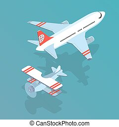 airplane and biplane