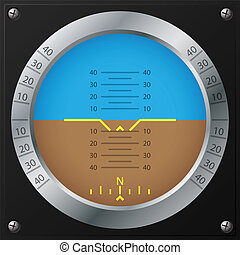 Airplane attitude indicator design - Attitude indicator...