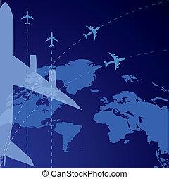 airplane, background