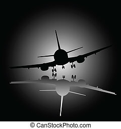 airplane black illustration