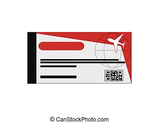 airplane boarding pass icon