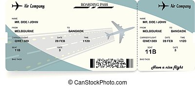 Airline Ticket Boarding Pass Vector Airline Ticket Boarding Pass