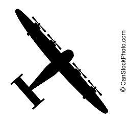Airplane bomber military badge vector illustration design Logo template.
