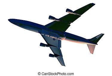 Airplane Bottom View