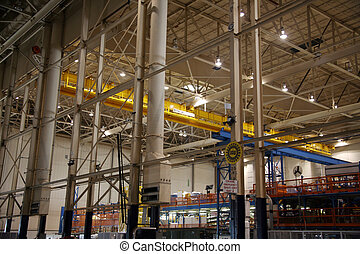 Airplane Cargo Cranes in Factory