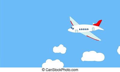 Airplane - Cartoon airplane