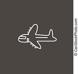 airplane cartoon sketch