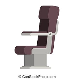 airplane chair isolated icon