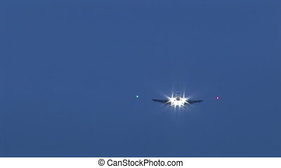 Airplane Coming in to Land - Stock Video Footage of an...