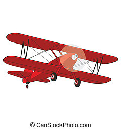 airplane - fully editable vector illustration airplane