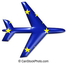 airplane europe union symbol