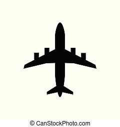 Airplane flat icon vector transportation concept for graphic design, logo, web site, social media, mobile app, ui illustration