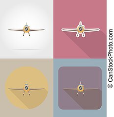 airplane flat icons vector illustration