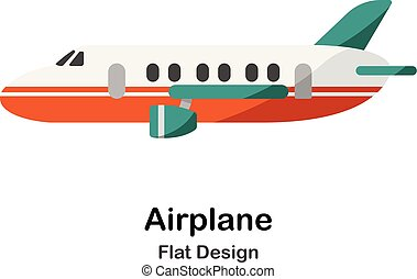 Airplane Flat Illustration