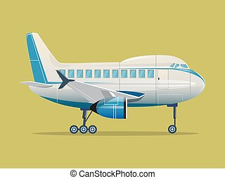 Airplane flat vector illustration
