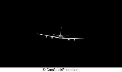 Airplane Flies to the Horizon