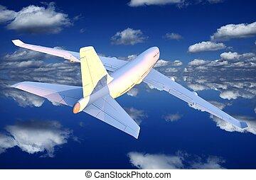 Airplane Flight Illustration