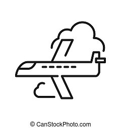 airplane flight illustration design