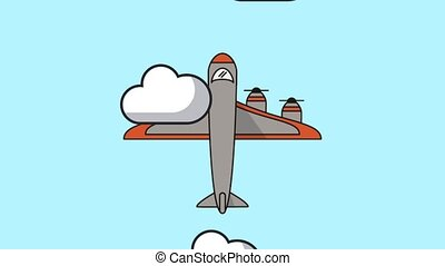 airplane flying animation icon