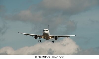 Airplane flys low