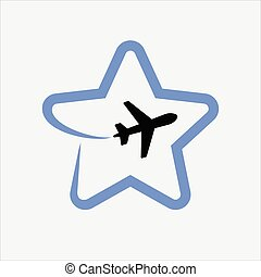 Airplane formed Star