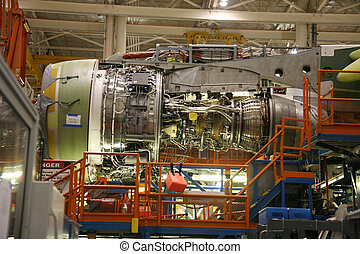 Airplane Fuselage in Production