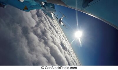 Airplane, Gopro, SU-34 and IL-76