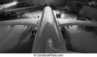 airplane hangar start