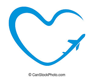 Airplane heart symbol