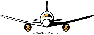 Airplane icon cartoon