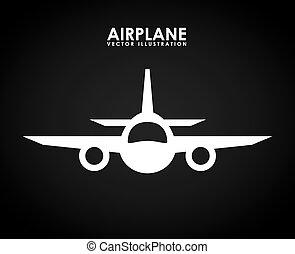airplane icon design, vector illustration eps10 graphic