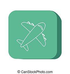 airplane icon design, vector illustration